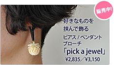 挟んで装う「pick a jewel」
